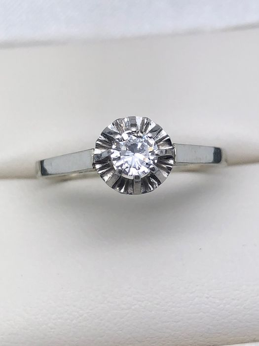 18 kt. Platinum, White gold - Ring - 0.35 ct Diamond