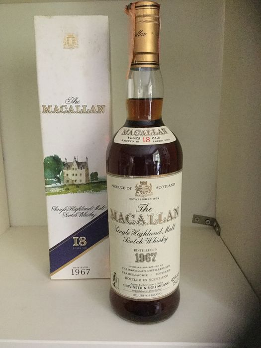 Macallan 18 years old--Distilled in 1967 - 75 cl