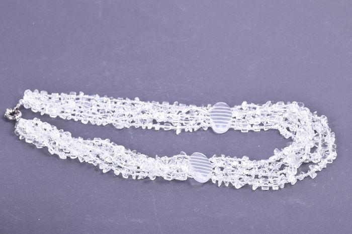 Rock crystal 5-row necklace - 154 g