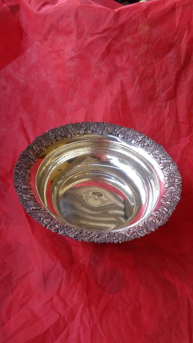 large centerpiece - .800 silver - Italy - Second half 20th century