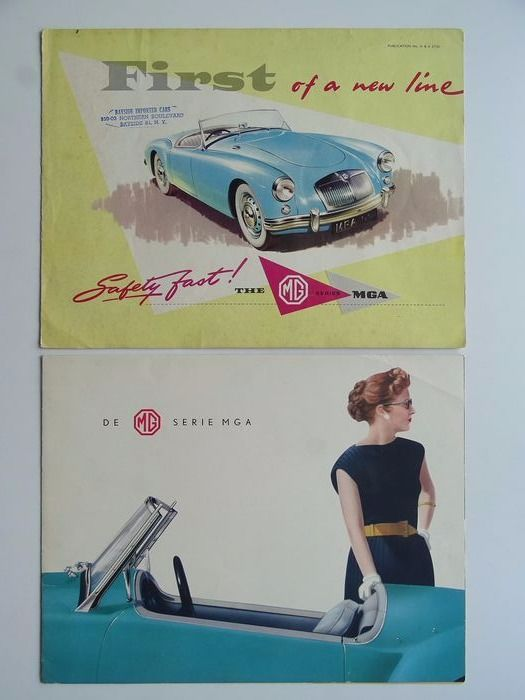 Brochures / catalogues - M.G. - Series MGA 1500 Coupé & Roadster - 1956-1958