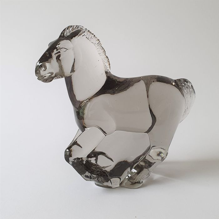 Paul Hoff - Kosta Boda  - Horse - Signed - Limited edition - Glass