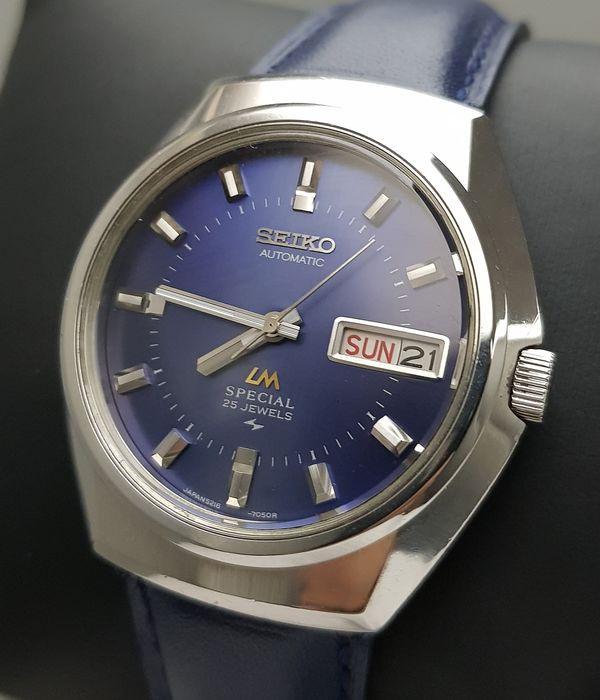 Seiko - 'NO RESERVE PRICE' Lord Matic Special Blue Automatic RARE Vintage Men - 5216-7050 - Hombre - 1970-1979
