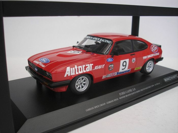 MiniChamps - 1:18 - Ford Capri 3.0 S #9 Brands Hatch BSCC - 1978 Gordon Spice - Rojo - 350 piezas