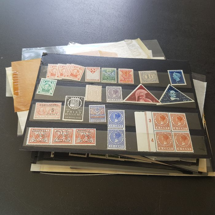 Pays-Bas 1852/1975 - Compilation on cards and in bags