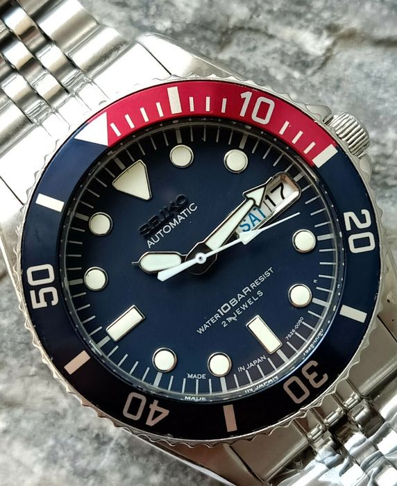 Seiko - Submariner PEPSI - SKX025- 7s26-0050 - 682613 - Men - 1990-1999