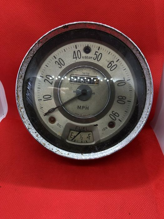 Instrumentbord - Smiths - Antique Genuine Smiths Car Automobile Dashboard Speedometer Wall Art - 1920-1930