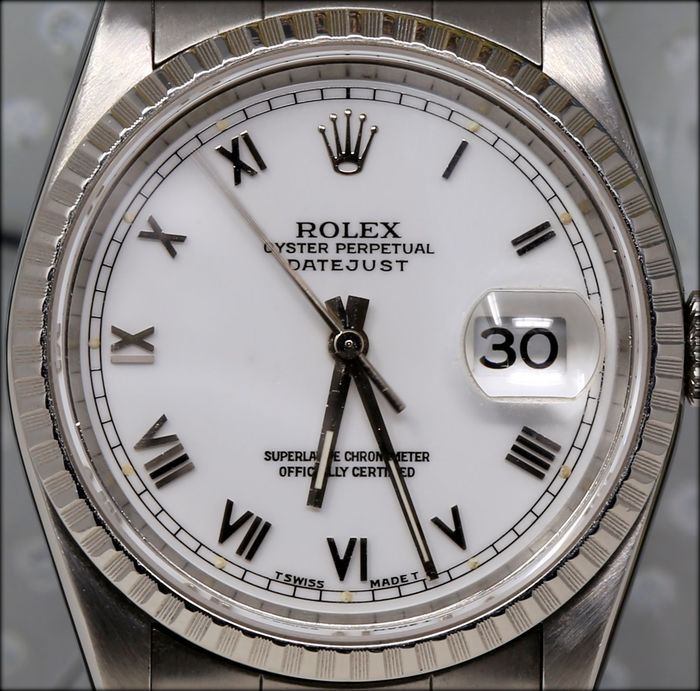 Rolex - Oyster Perpetual Datejust Porcelain Dial - Ref.16220 - Herre - 1997