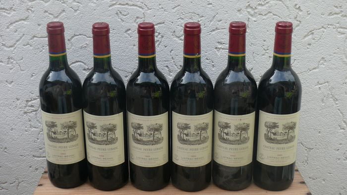 1993 Chateau Peyre-Lebade Listac Medoc Cru Bourgeois  - Bordeaux - 6 Normalflasche (0,75 Liter)