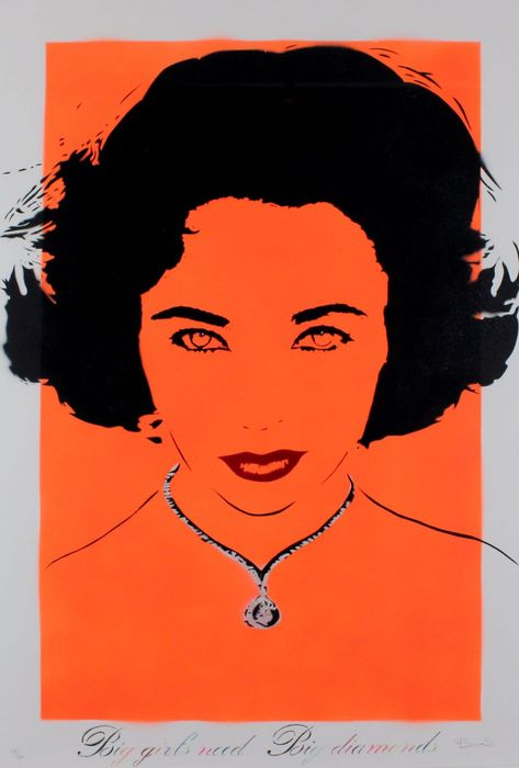 Bambi - Liz Taylor - Orange - Big Girls Need Big Diamonds, Diamond Dust  Liz Taylor - Orange