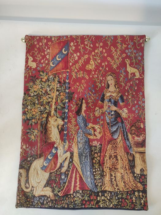 Craye Groupe Flemisch Tapestries - Embroidery - Textile