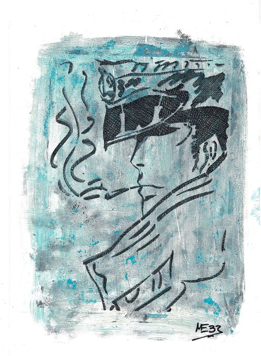 Corto Maltese - Mixed Media Artwork - MEB DESSIN - (2019)