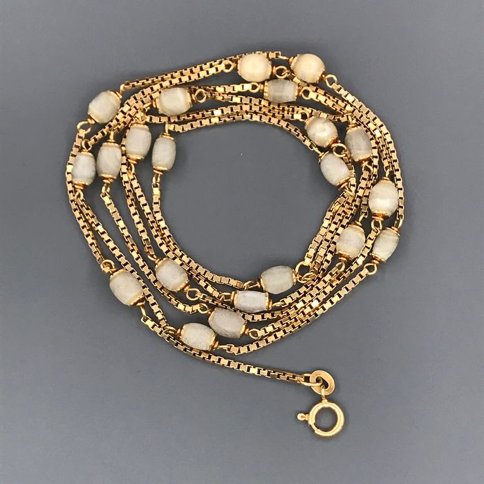 18 kt. Yellow gold - Necklace Pearls of Mother Pearl