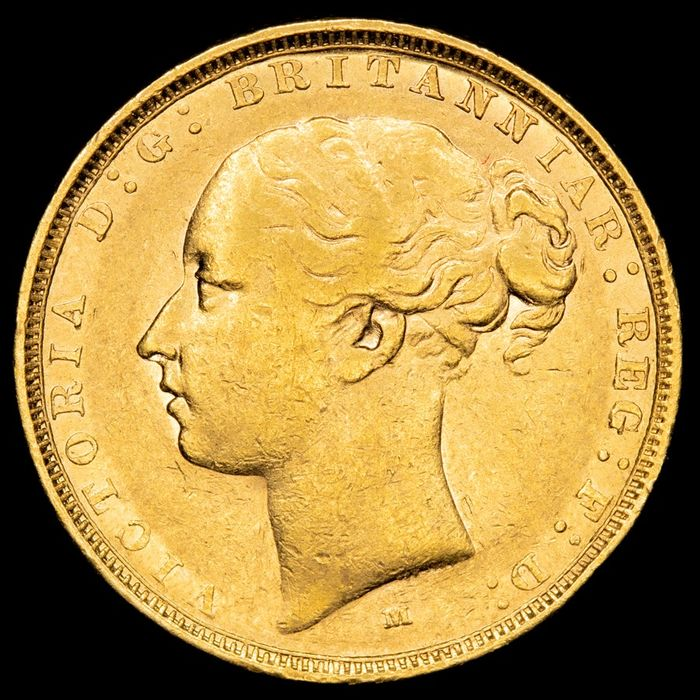 Reino Unido - 1 Sovereign - Queen Victoria, 1882. 1 gold sovereign (7,99 g. 22 mm.) .9166 - Oro