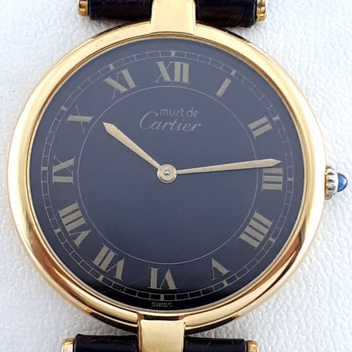 Cartier - Must Vermeil Ronde - 077565 - Men - 1990-1999