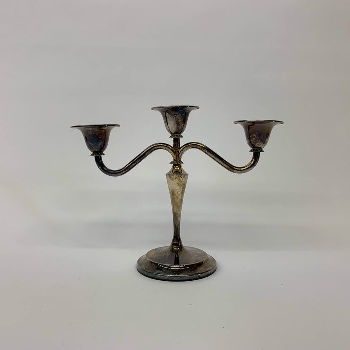 Candlestick - Silverplate - Netherlands - Second half 20th century
