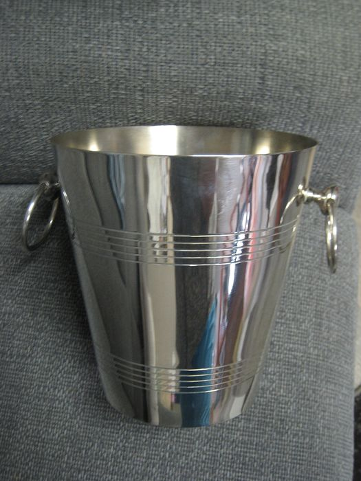 Champagne, wine cooler (1) - Silverplate - France - 1950-1974