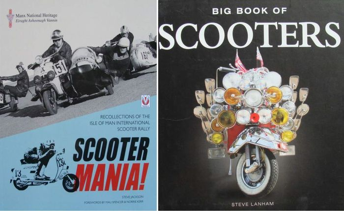 2 Books : SCOOTER MANIA + Big Book of Scooters - 2014