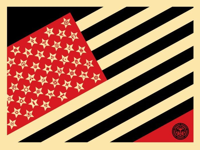 Shepard Fairey (Obey) - Mayday Flag (Small)