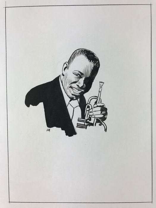 Attilio Micheluzzi - Louis Armstrong - Loose page - (1985)