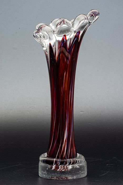 Erwin Gaschler - Alwe - Regenhütte - Vase - Height 23 cm - Glass