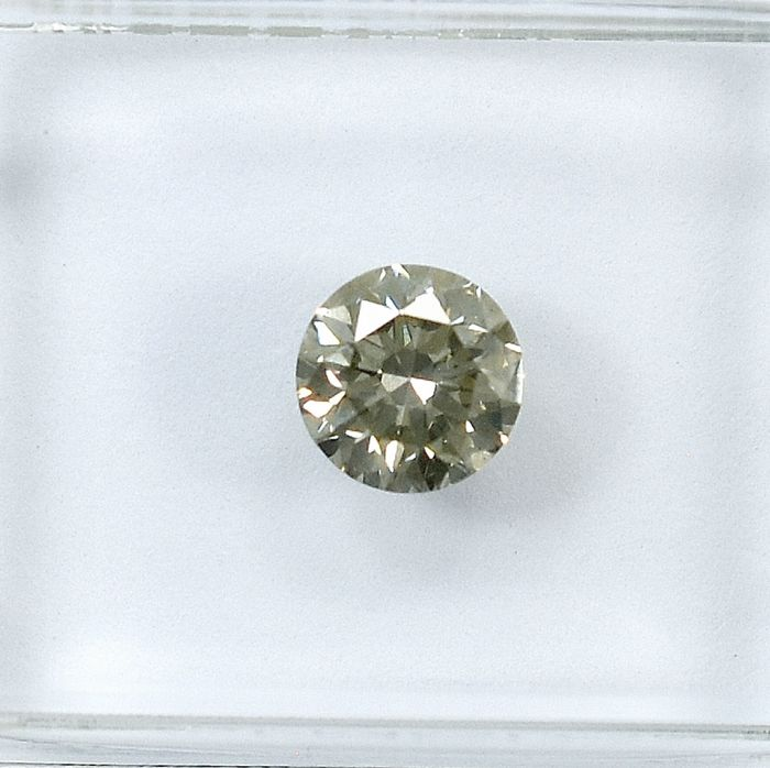 Diamante - 0.58 ct - Brilhante - Natural Fancy Light Grayish Yellow - SI1