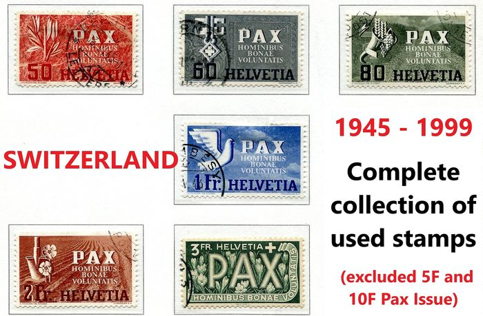 Switzerland 1945/1999 - Almost complete collection of 1227 stamps + 3 minisheets