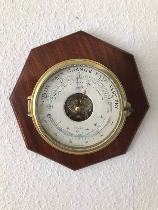 Barometer, Thermometer - Brass - Late 20th century
