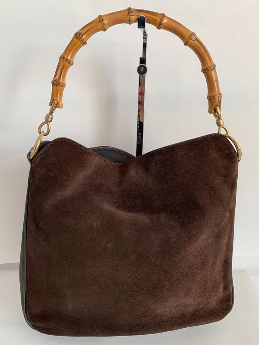 Gucci - Bamboo 2 way Cool Suede Hobo  Shoulder bag