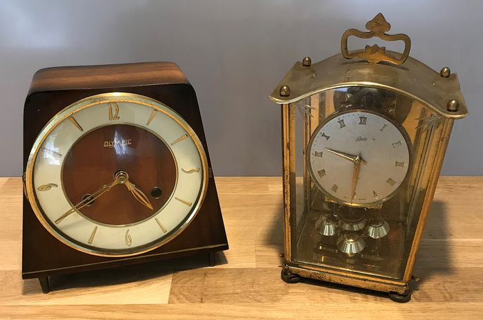 Table clocks Germany - Wood and brass - First half 20th century