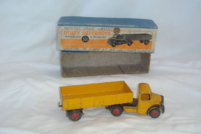 "Dinky Supertoys - 1:48 - First Issue SUPERTOYS Bedford ""ARTICULATED LORRY"" no.521 - 1948  - In Original First Issue ""SUPERTOYS"" Box - 1948"