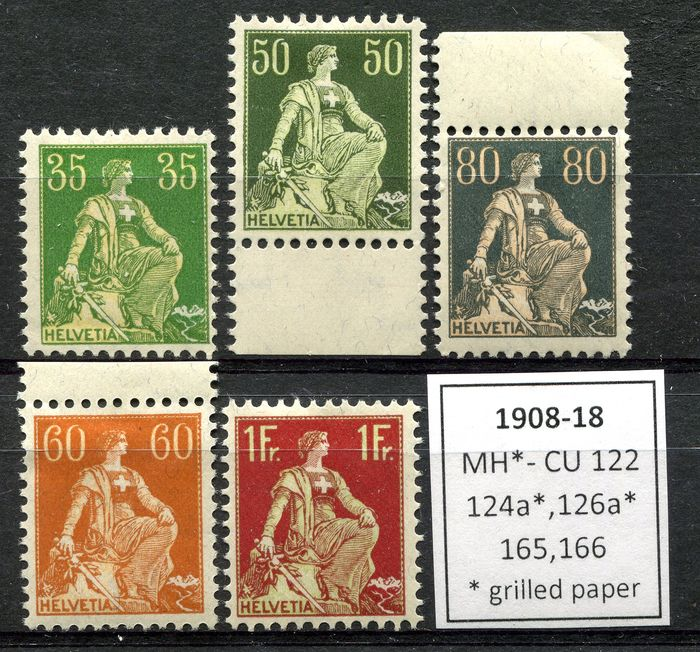 Switzerland 1908/1941 - Fine collection of 188 stamps + 1 minishhet