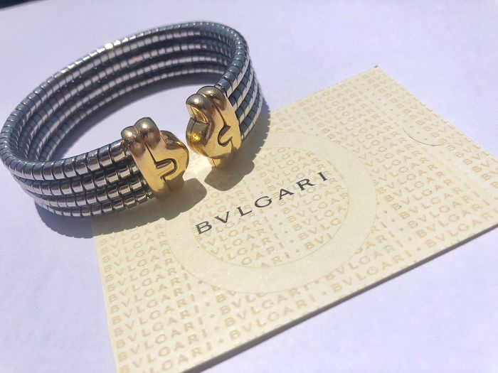 Bvlgari - 18 kt. Steel, Yellow gold - Bracelet steel and gold
