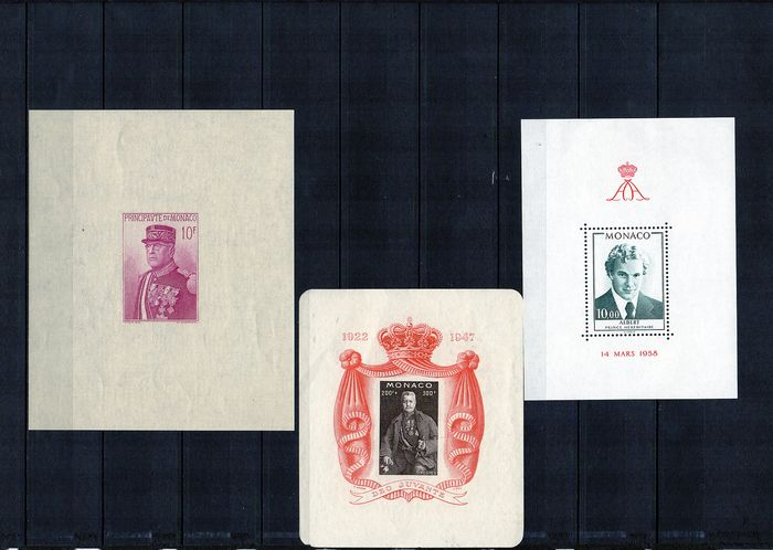 "Monaco 1938/2011 - Thematic lot ""Princes and Princesses of Monaco"" on different media - Yvert Ensemble de blocs,feuillets ,cartes et enveloppes"