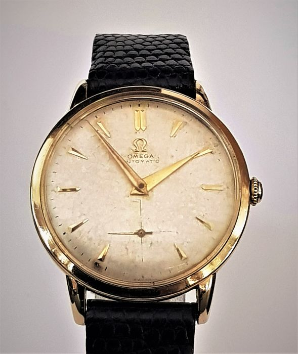 """Omega - Solid 14k yellow gold Bumper Automatic 1947 - """"NO RESERVE PRICE"""" - Men - 1901-1949"""
