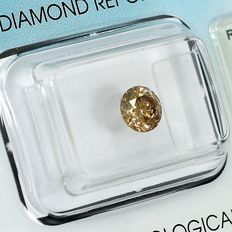 Diamante - 0.70 ct - Brillante - Champagne - I1 - NO RESERVE PRICE