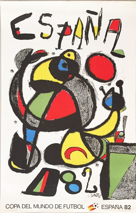 Joan Miró - Football World Cup  - 1982