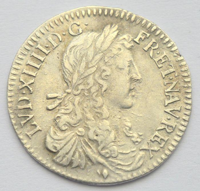 France - 1/12 Ecu 1663 (Paris) Louis XIV - Silver