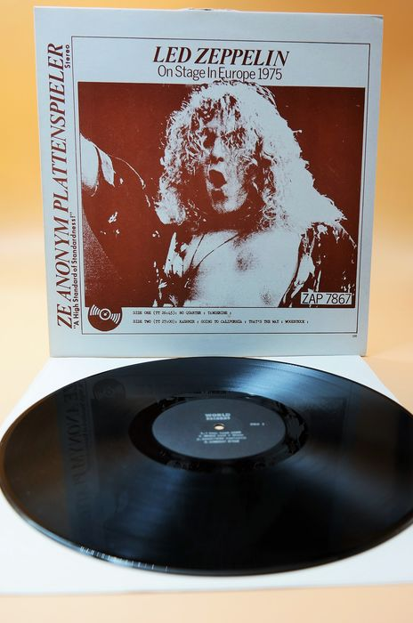Led Zeppelin - On Stage In Europe 1975 (Fantastic) - LP Album, Unofficial Release  - 1978
