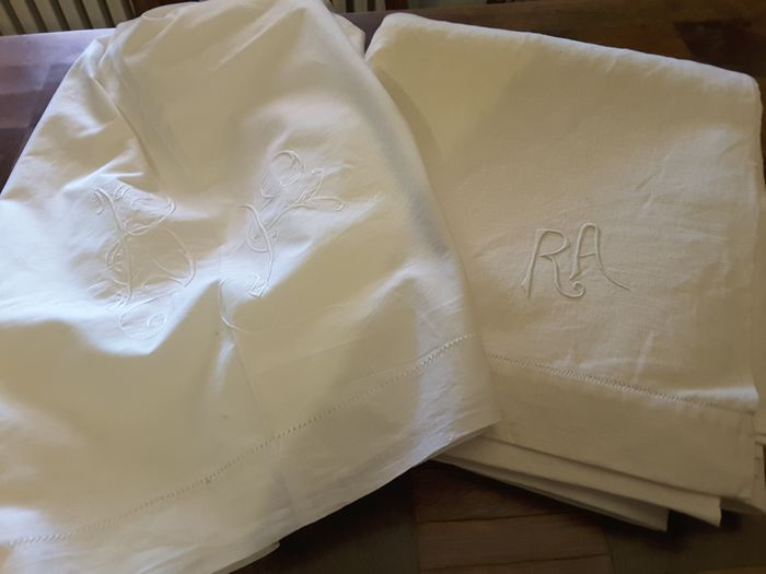 Bed sheet and finta for bed (2) linen and hemp blend and cotton muslin