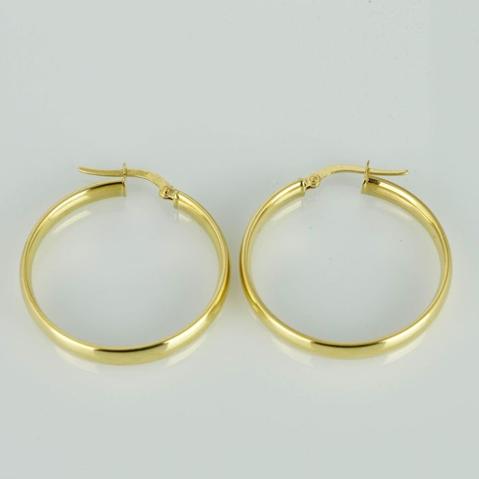 Bluoro - Italy - 18 kt. Yellow gold - Earrings
