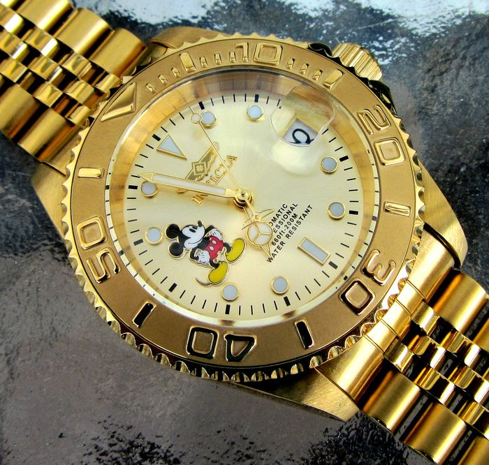 Disney  Invicta Wristwatch - Limited Edition - Mickey Mouse - 200Mtrs Automatic Diver - Mod Jubilee - #1442 of 3000
