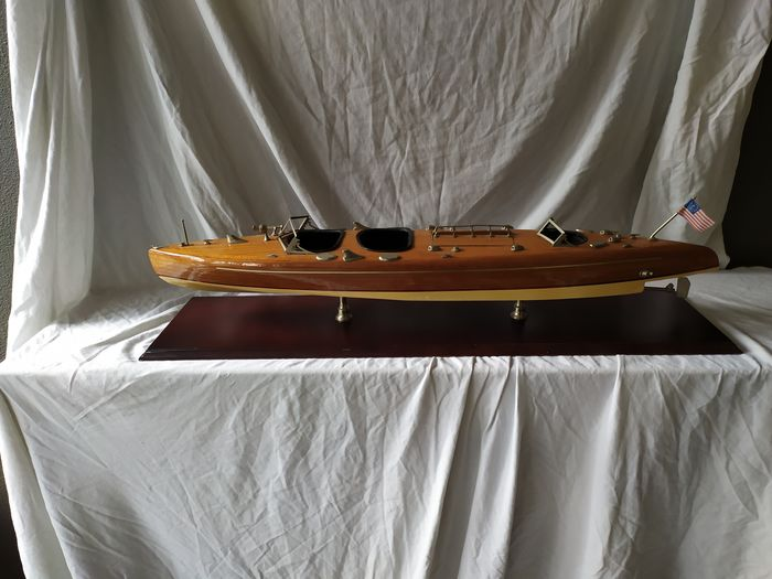 Boat model - Wood - mid 20th century