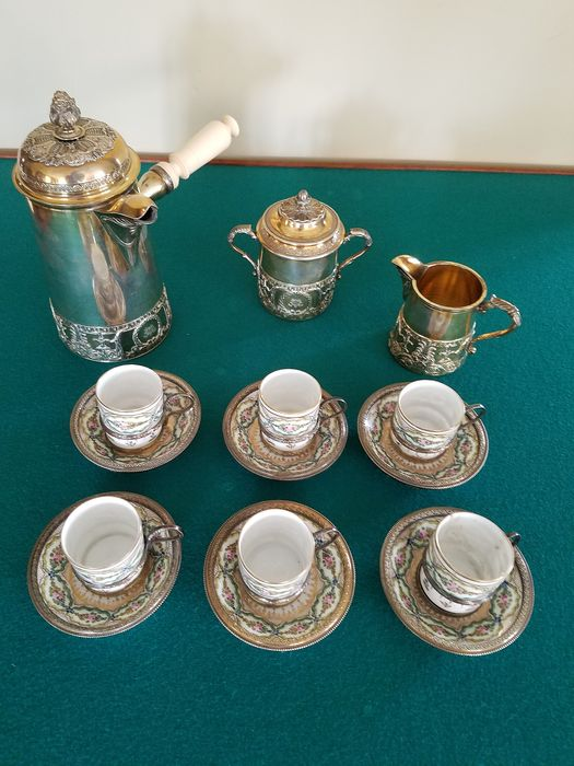Coffee service (9) - .833 silver - Portugal - mid 20th century