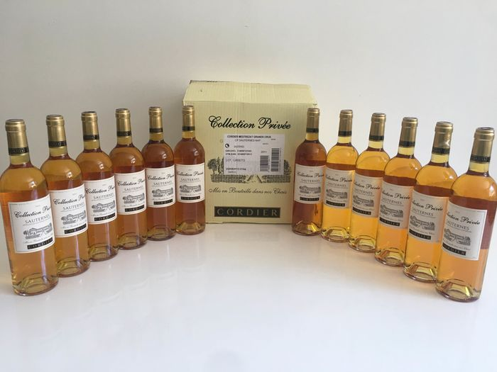 2011 Cordier Collection Privée  - Sauternes - 12 Bottles (0.75L)