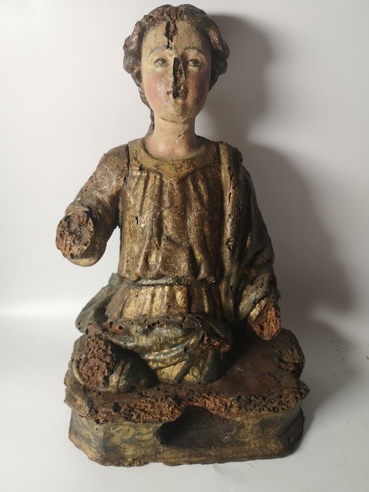Reliquary bust - Wood - 16th century