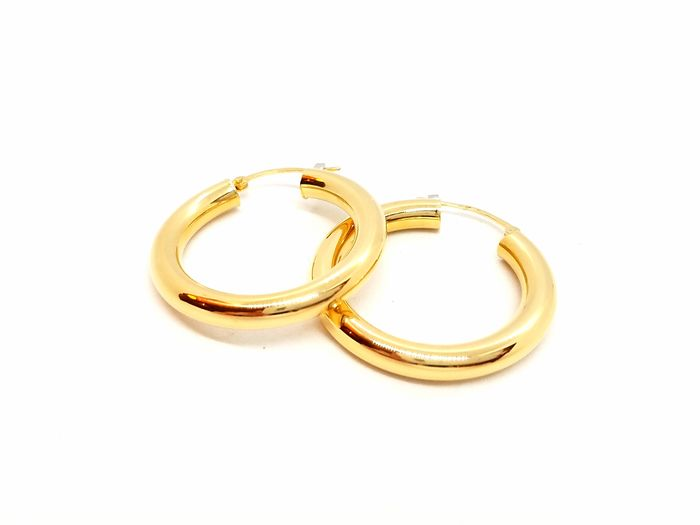 18 kts. Yellow gold - Earrings