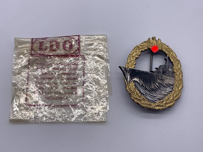 Germany - Destroyer war badge in LDO bag!