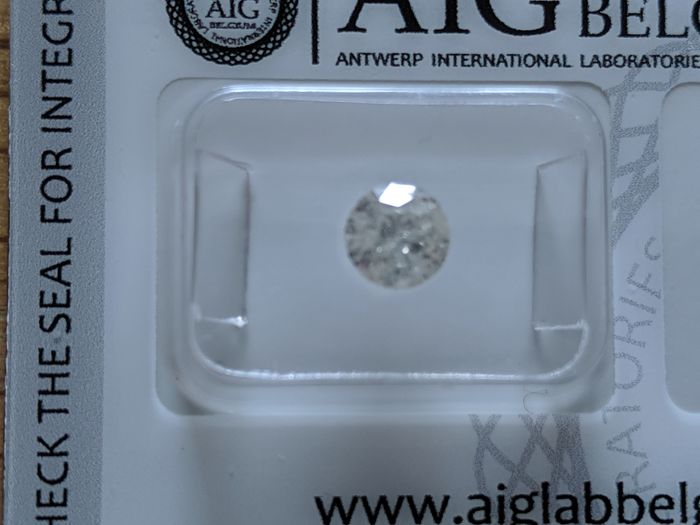 1 pcs Diamond - 0.83 ct - Brilliant, Round - L - I2