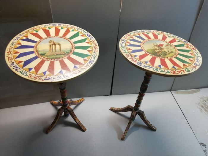 Centre table (2) - Wood - Early 20th century